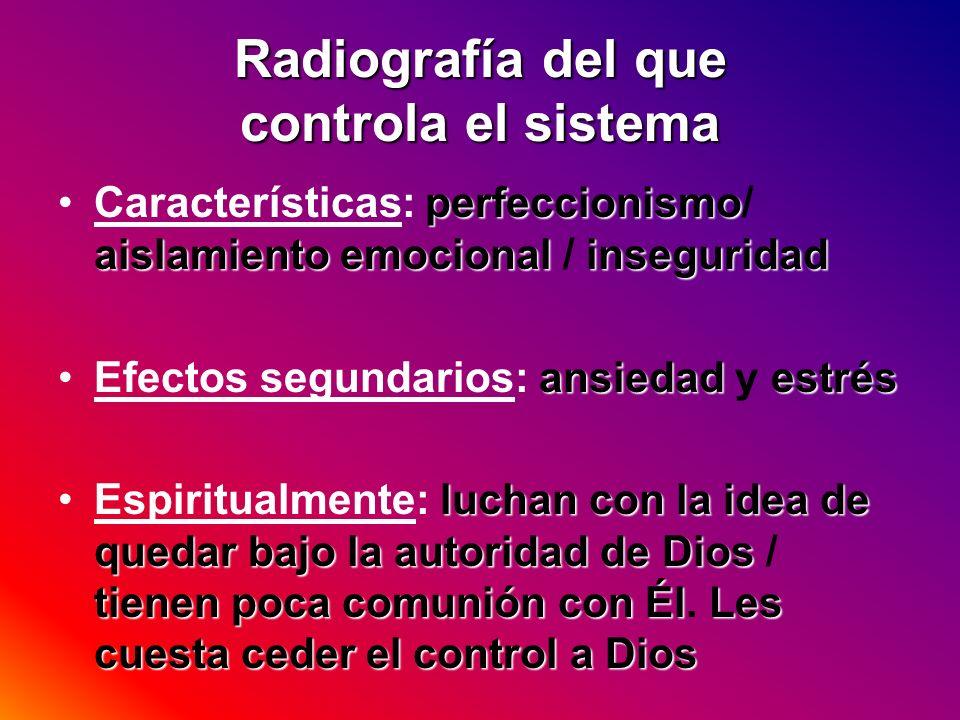 Radiografía del que controla el sistema