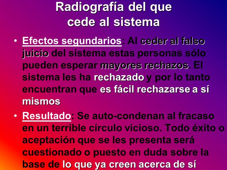Radiografía del que cede al sistema