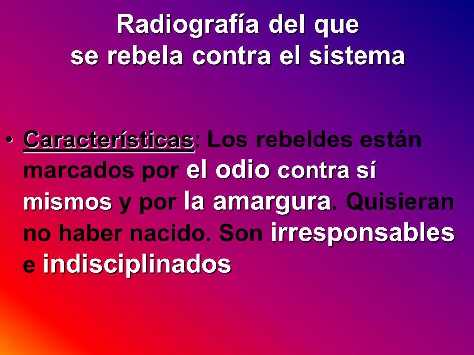 Radiografía del que se rebela contra el sistema