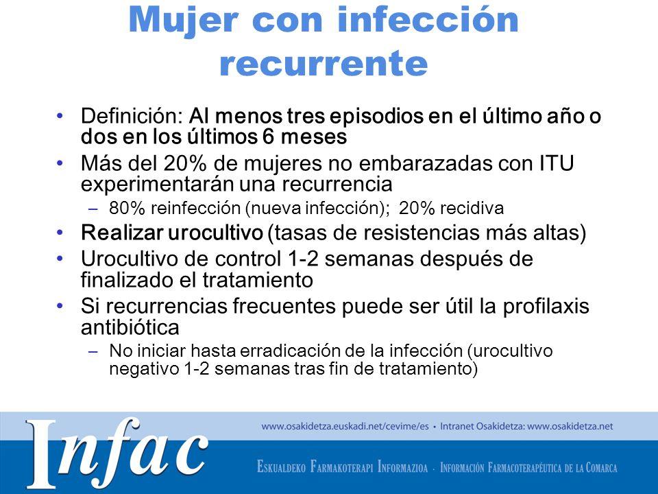 Mujer con infección recurrente