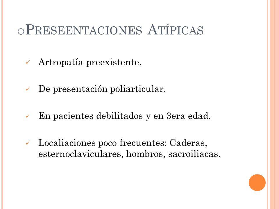 Preseentaciones Atípicas