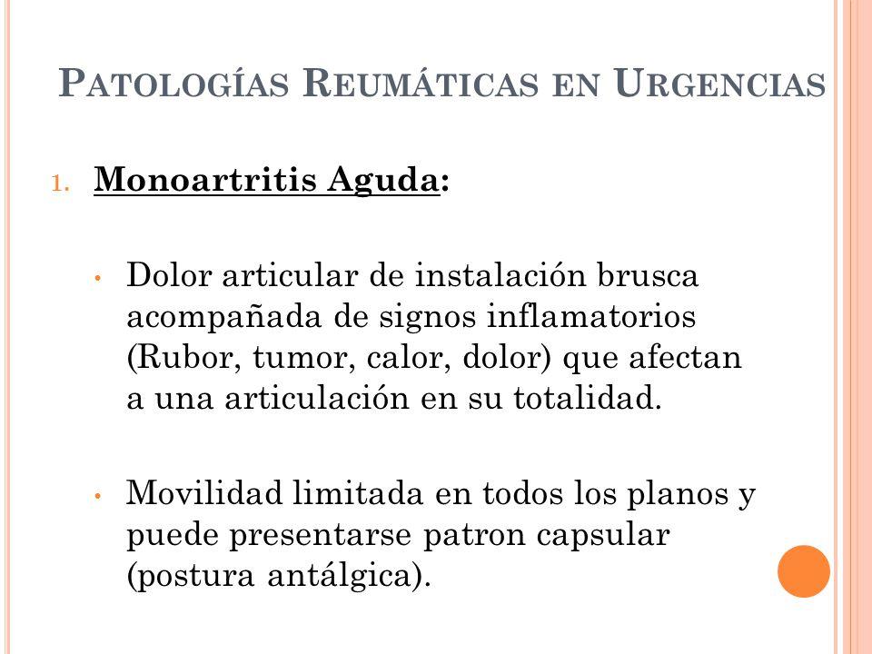 Patologías Reumáticas en Urgencias