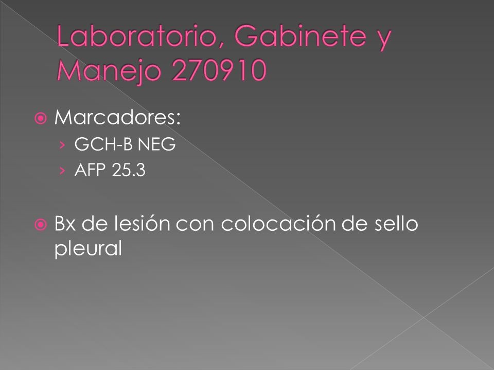 Laboratorio, Gabinete y Manejo 270910