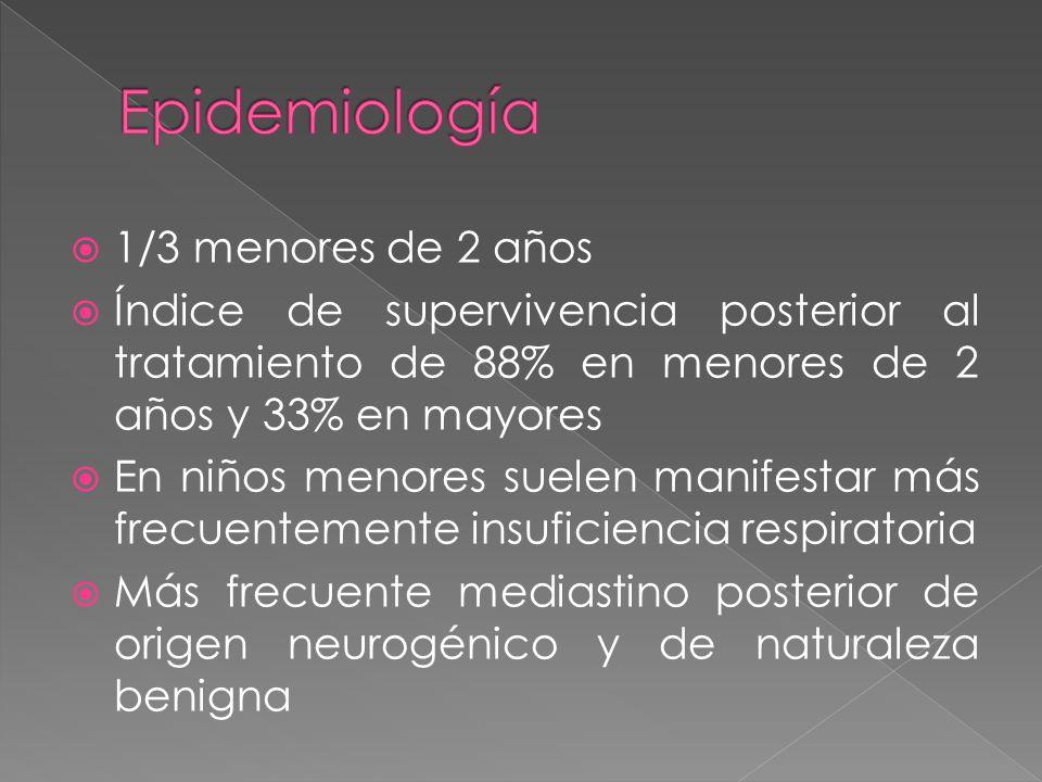 Epidemiología 1/3 menores de 2 años