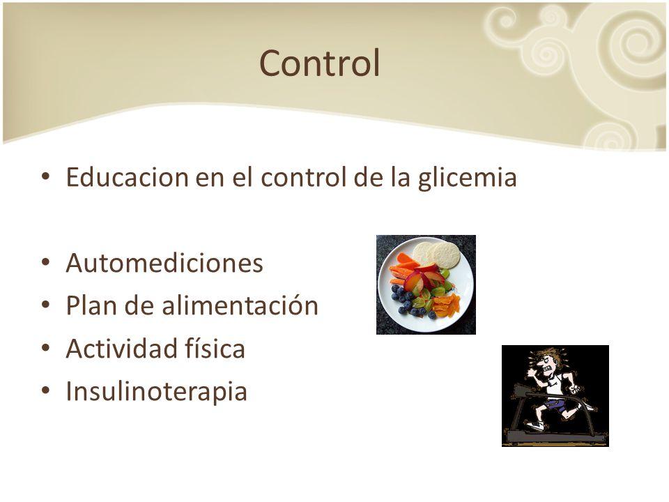 Control Educacion en el control de la glicemia Automediciones