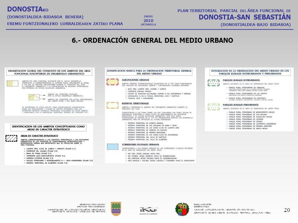 6.- ORDENACIÓN GENERAL DEL MEDIO URBANO