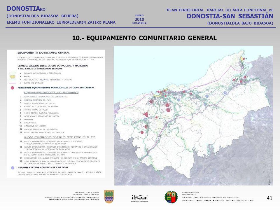 10.- EQUIPAMIENTO COMUNITARIO GENERAL
