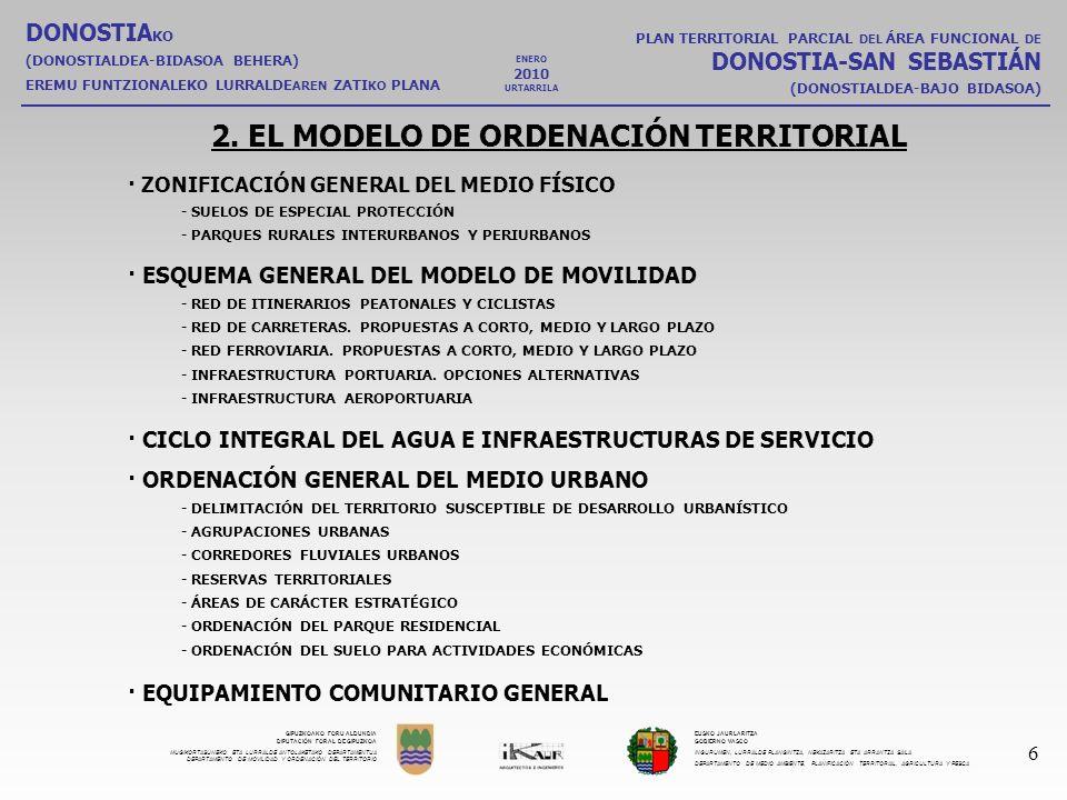 2. EL MODELO DE ORDENACIÓN TERRITORIAL