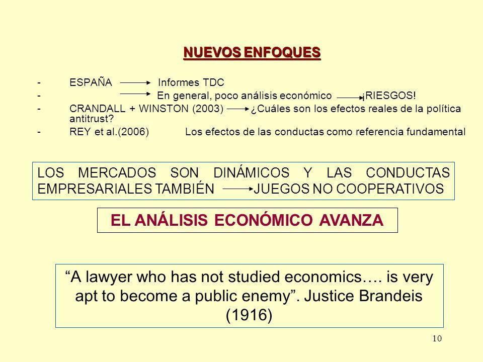 EL ANÁLISIS ECONÓMICO AVANZA