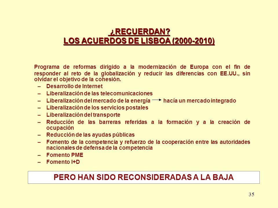 ¿RECUERDAN LOS ACUERDOS DE LISBOA (2000-2010)