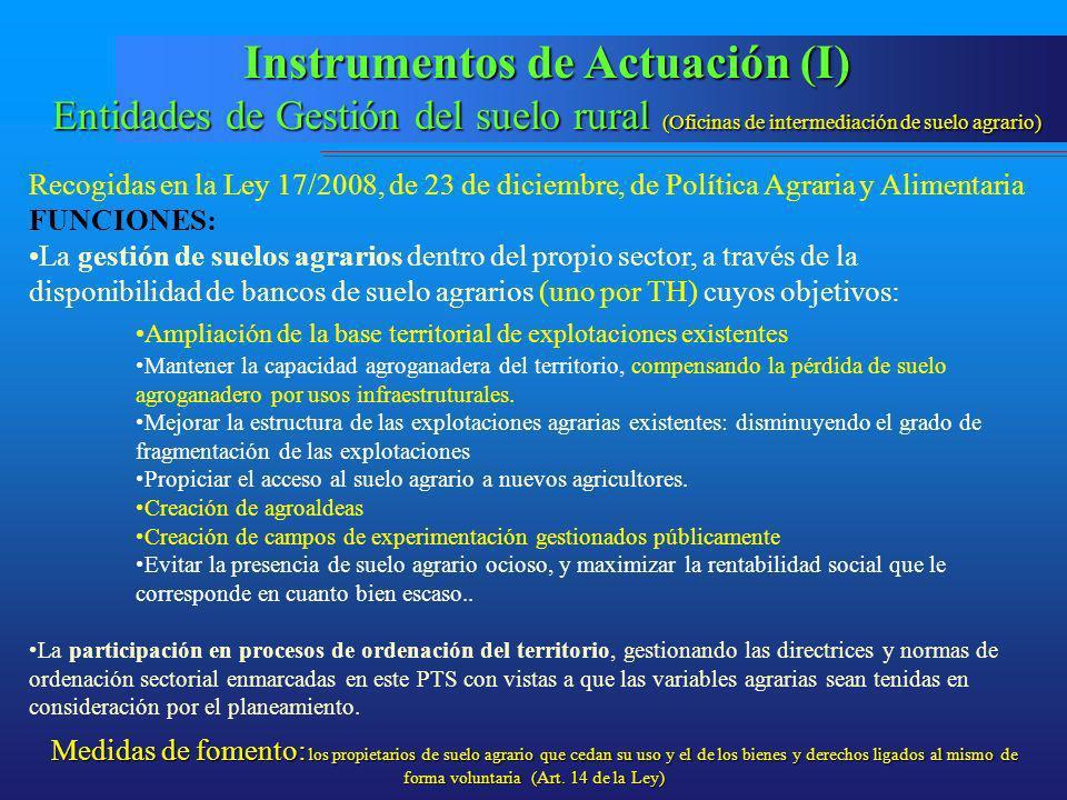 Instrumentos de Actuación (I)