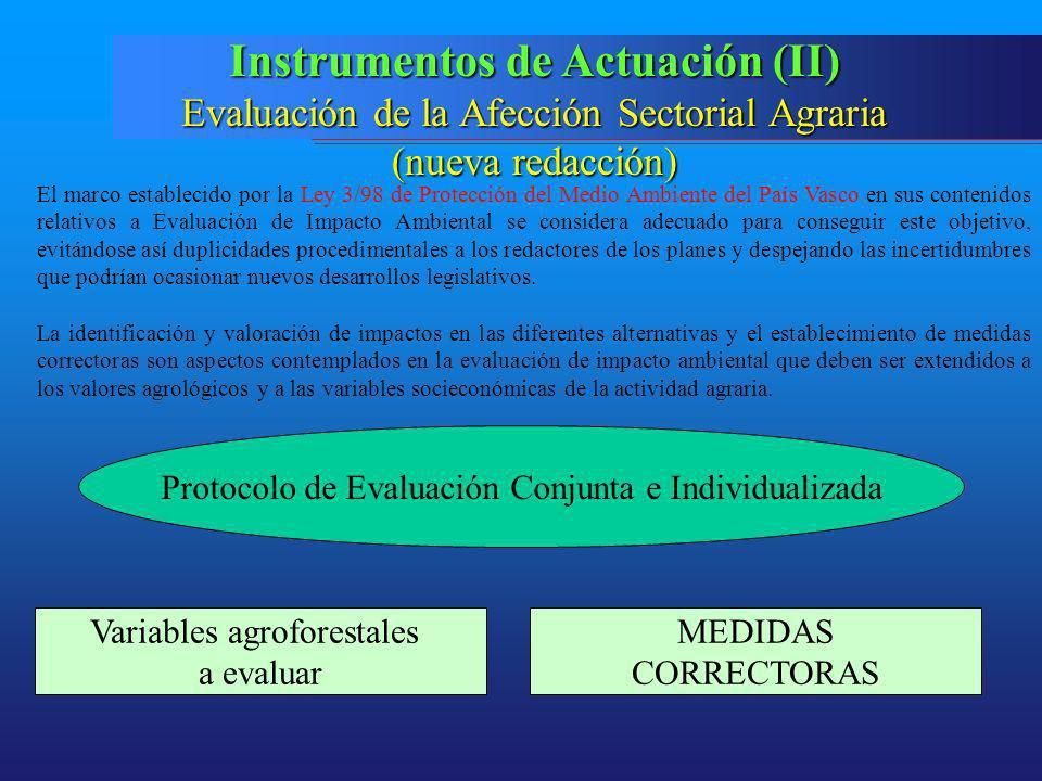 Instrumentos de Actuación (II)