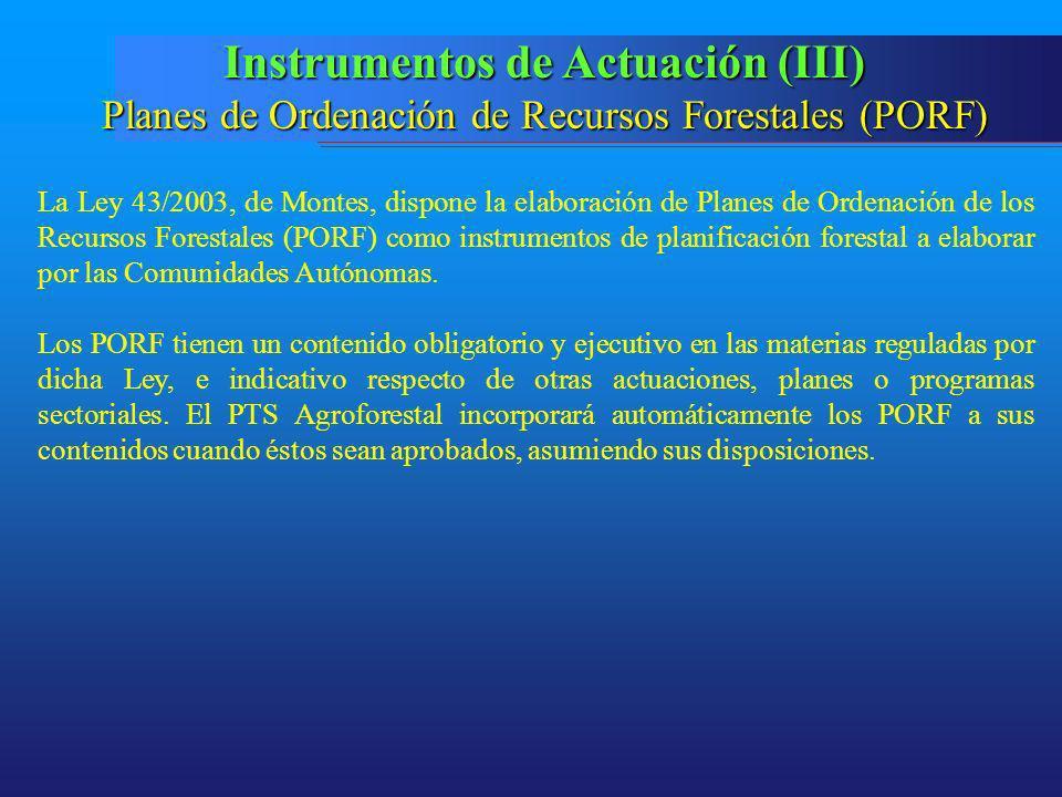 Instrumentos de Actuación (III)