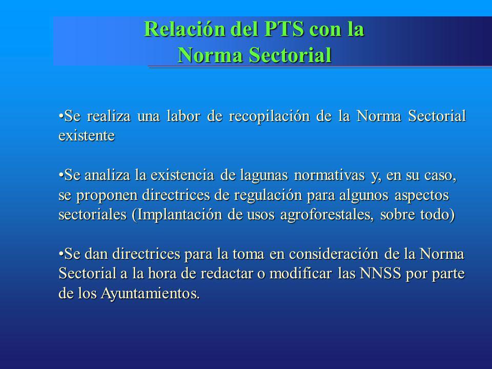 Relación del PTS con la Norma Sectorial