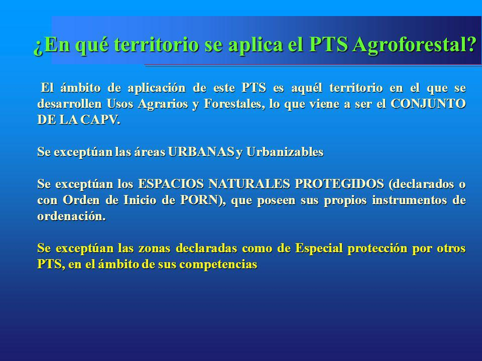 ¿En qué territorio se aplica el PTS Agroforestal
