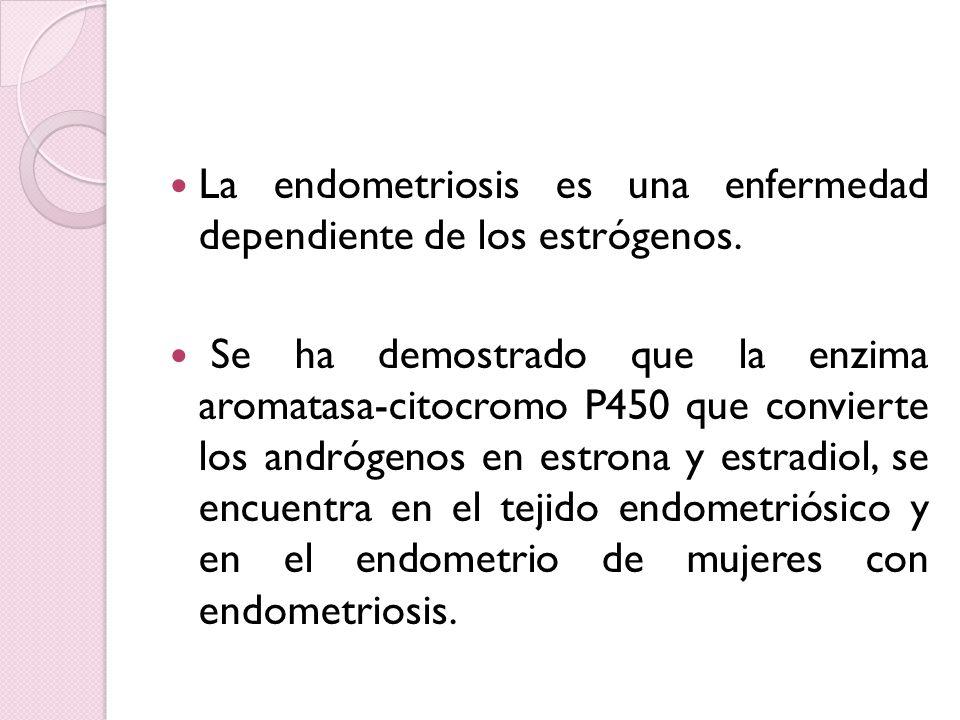 La endometriosis es una enfermedad dependiente de los estrógenos.