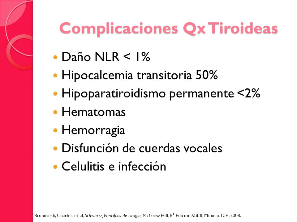 Complicaciones Qx Tiroideas