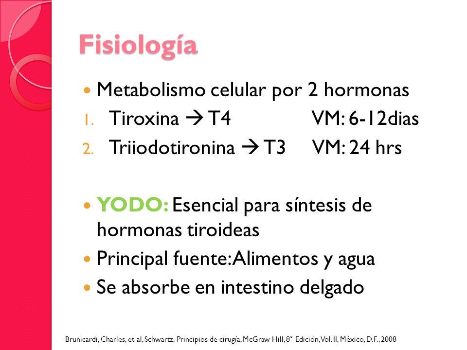 Fisiología Metabolismo celular por 2 hormonas