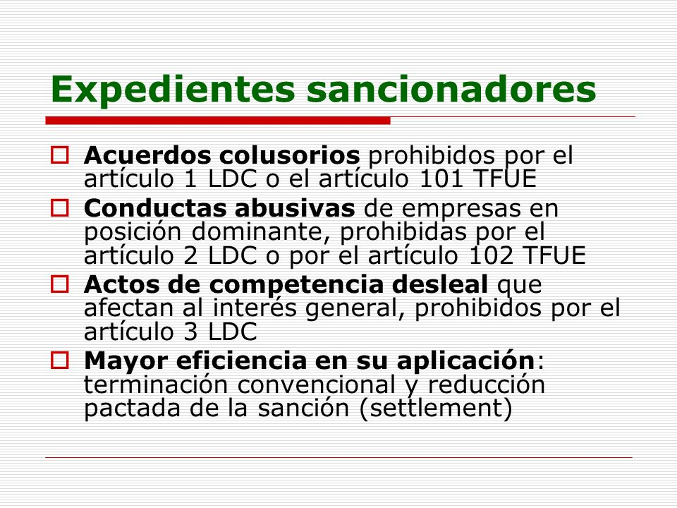Expedientes sancionadores