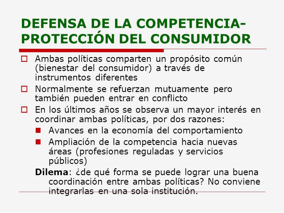 DEFENSA DE LA COMPETENCIA-PROTECCIÓN DEL CONSUMIDOR