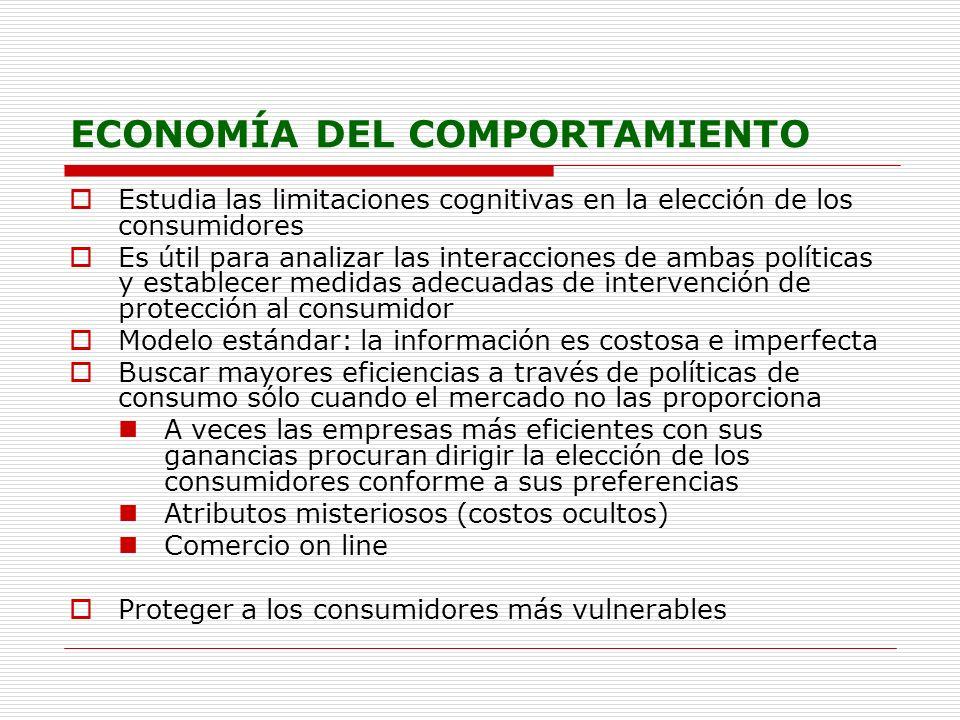 ECONOMÍA DEL COMPORTAMIENTO