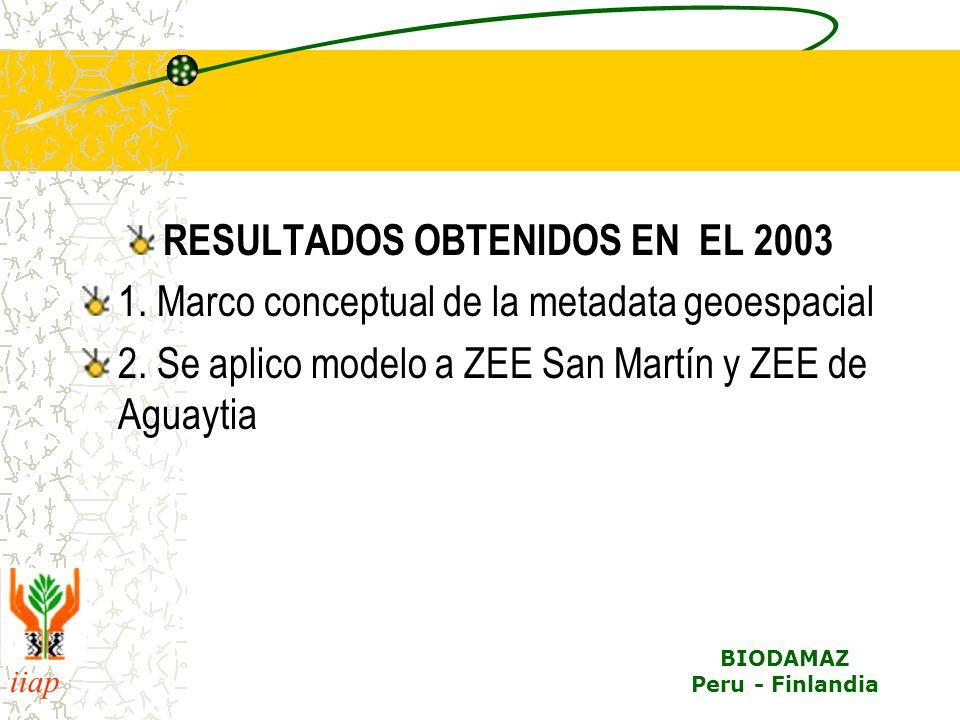 RESULTADOS OBTENIDOS EN EL 2003
