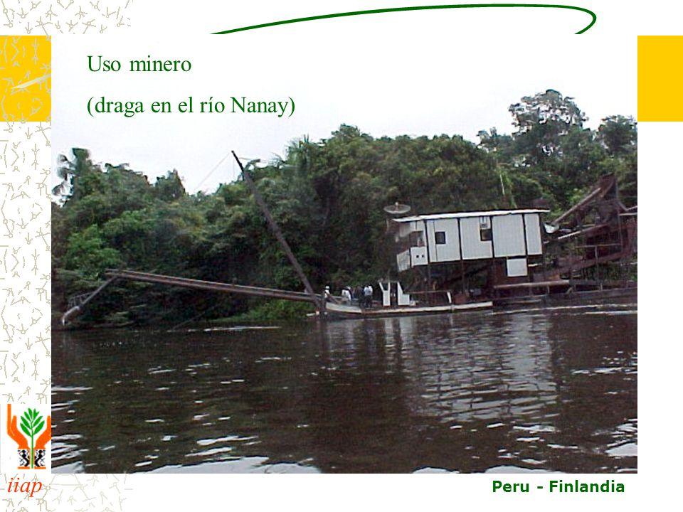 Uso minero (draga en el río Nanay)