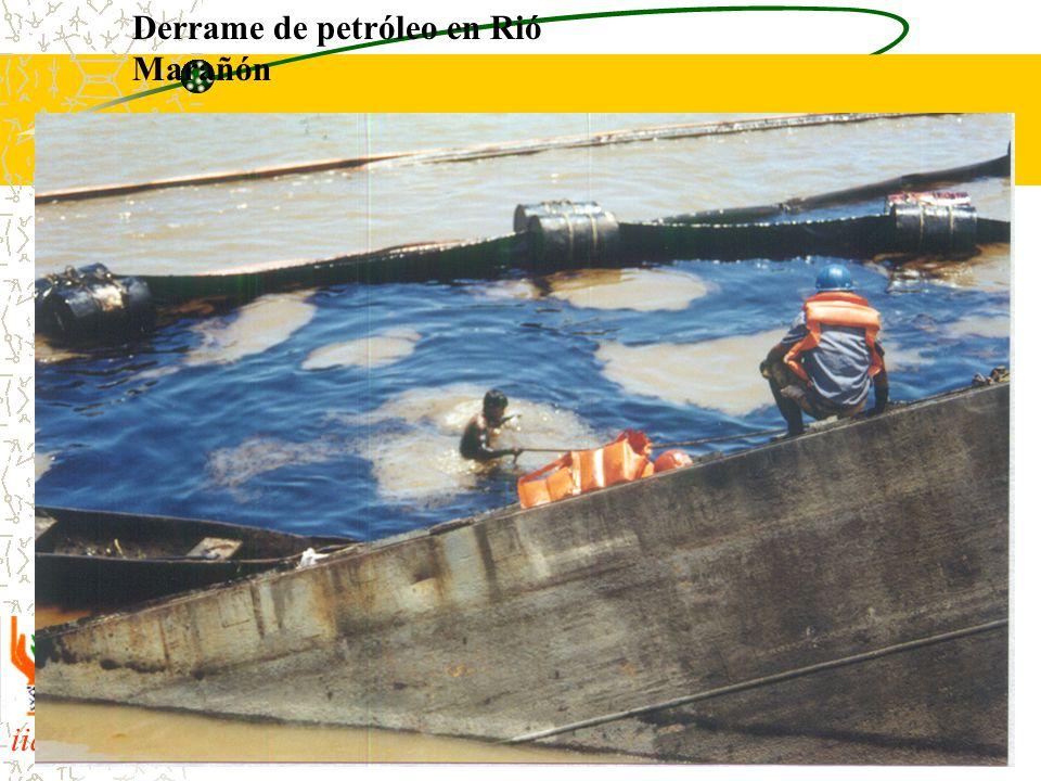 Derrame de petróleo en Rió Marañón