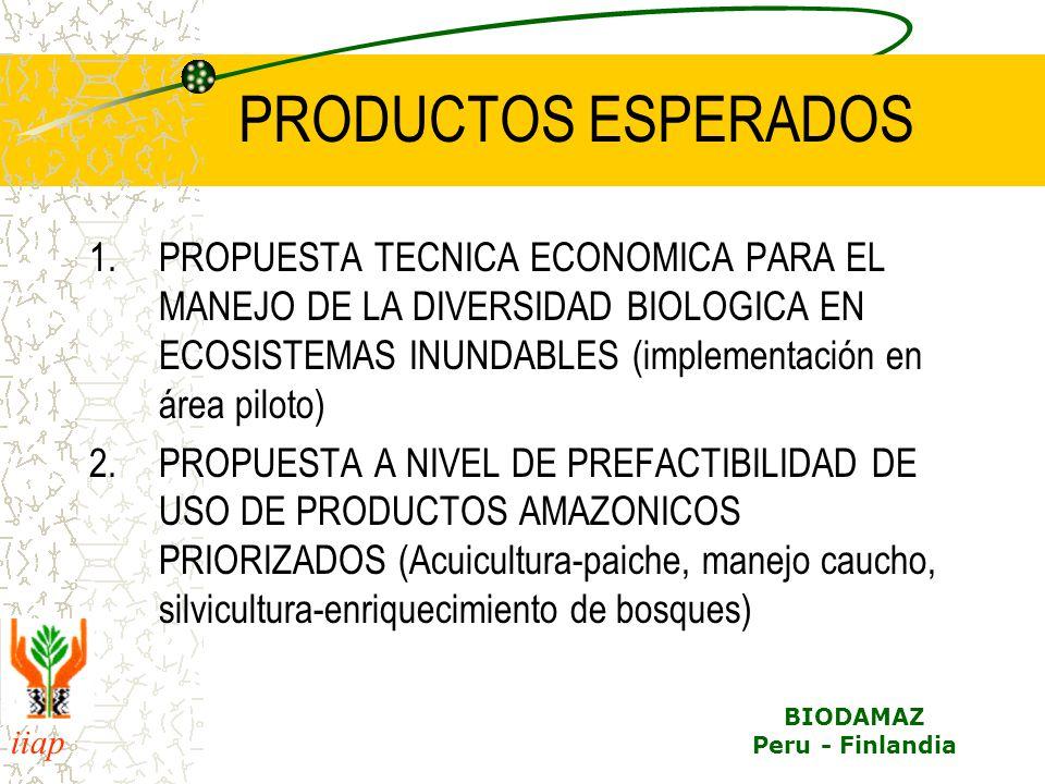 PRODUCTOS ESPERADOS PROPUESTA TECNICA ECONOMICA PARA EL MANEJO DE LA DIVERSIDAD BIOLOGICA EN ECOSISTEMAS INUNDABLES (implementación en área piloto)
