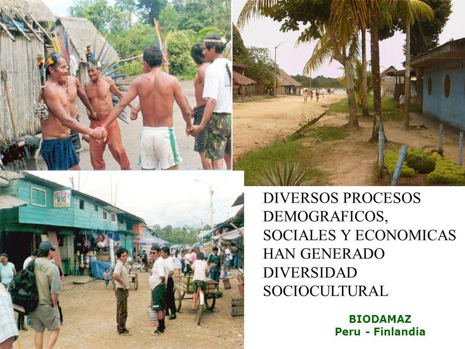 DIVERSOS PROCESOS DEMOGRAFICOS, SOCIALES Y ECONOMICAS HAN GENERADO DIVERSIDAD SOCIOCULTURAL