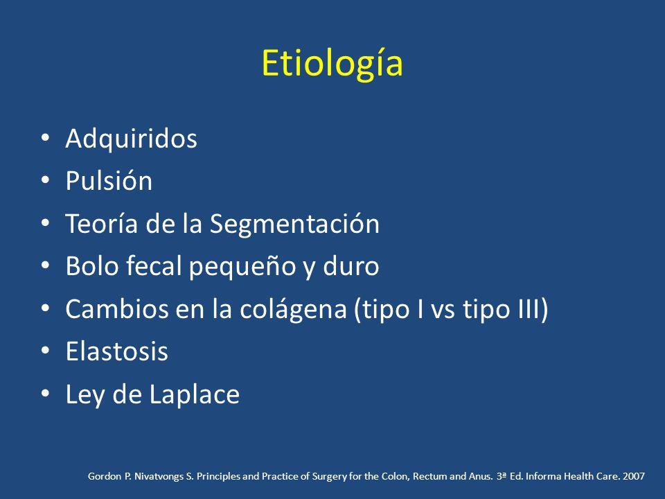 Etiología Adquiridos Pulsión Teoría de la Segmentación
