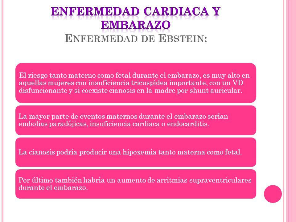 ENFERMEDAD CARDIACA Y EMBARAZO Enfermedad de Ebstein: