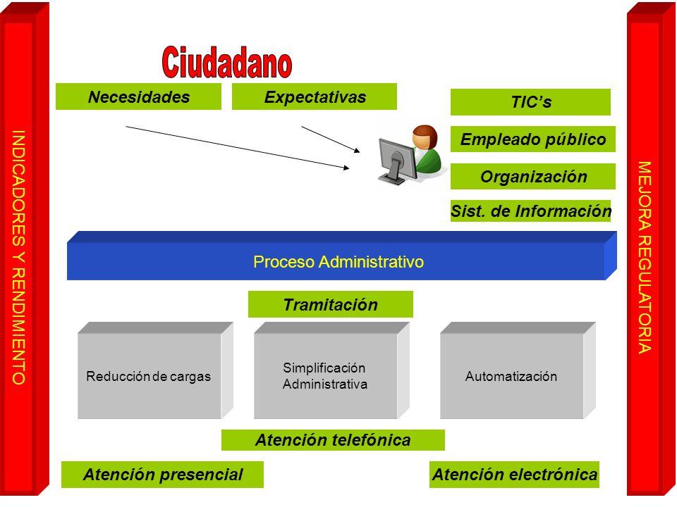 Ciudadano Necesidades Expectativas TIC's Empleado público Organización