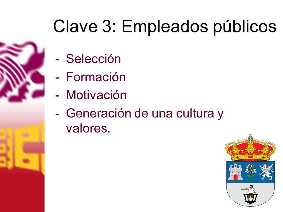 Clave 3: Empleados públicos
