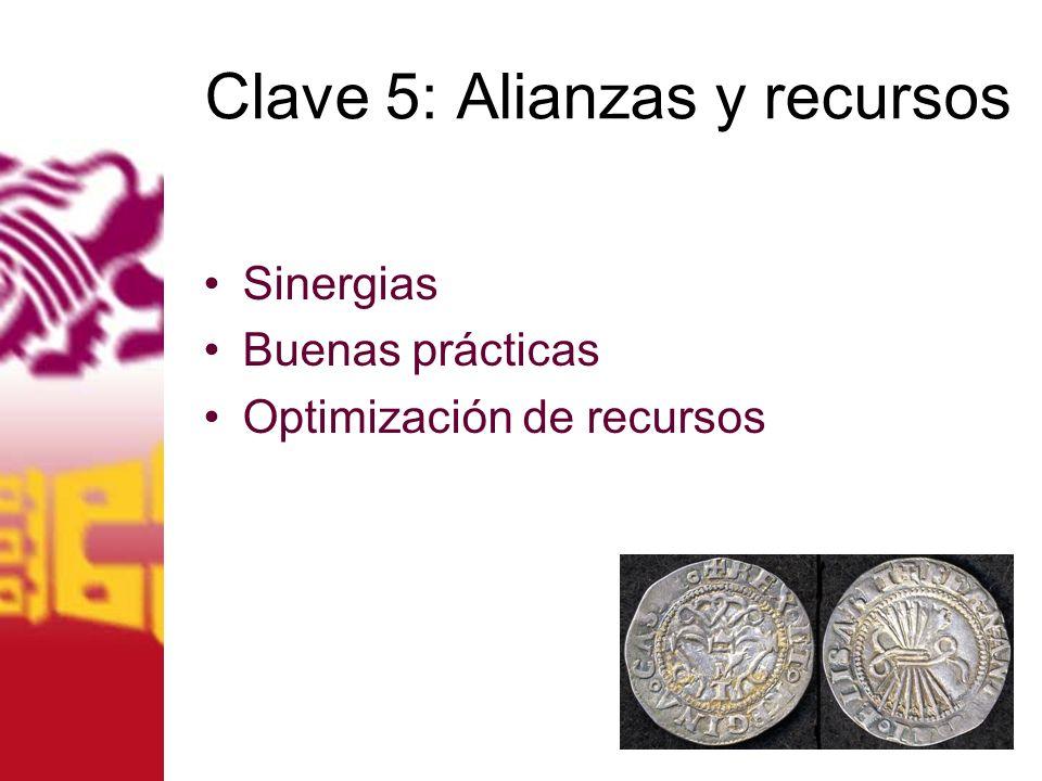 Clave 5: Alianzas y recursos