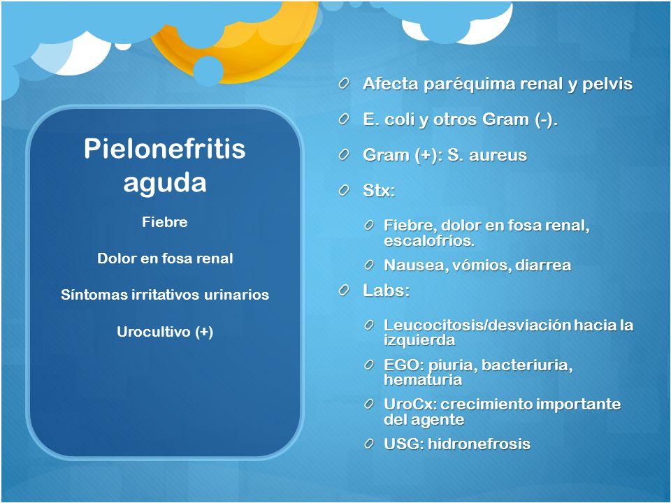 Síntomas irritativos urinarios