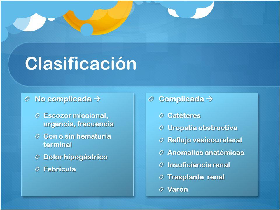 Clasificación No complicada  Complicada 