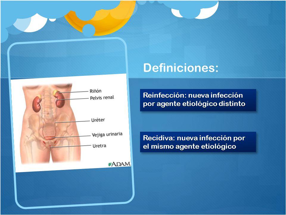 Definiciones: Reinfección: nueva infección por agente etiológico distinto.