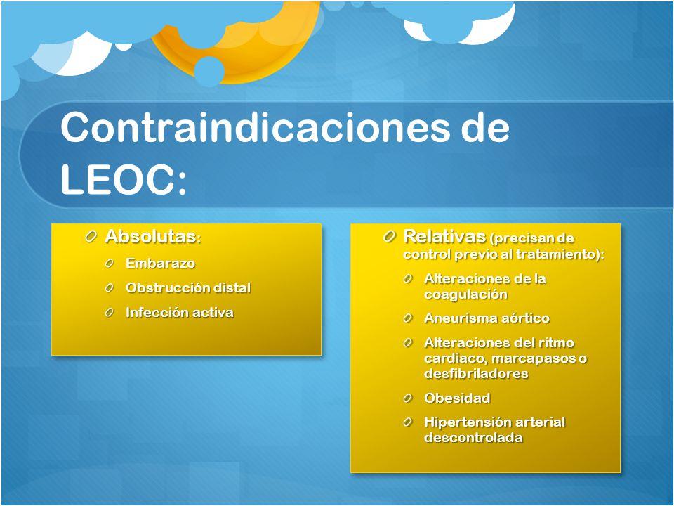 Contraindicaciones de LEOC: