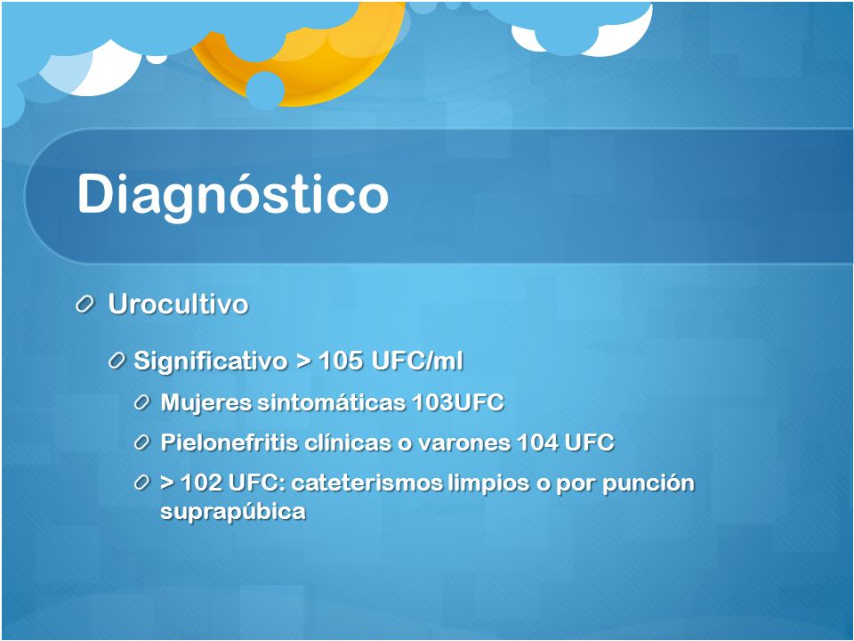 Diagnóstico Urocultivo Significativo > 105 UFC/ml