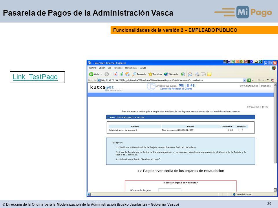 Funcionalidades de la versión 2 – EMPLEADO PÚBLICO