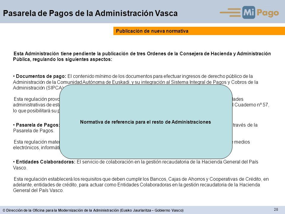 Normativa de referencia para el resto de Administraciones