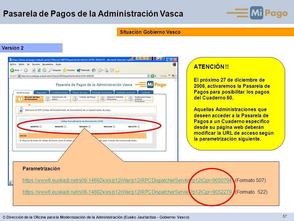 ATENCIÓN !! Situación Gobierno Vasco Versión 2