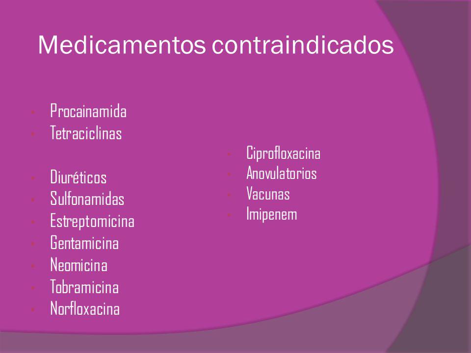 Medicamentos contraindicados