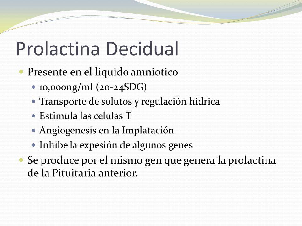Prolactina Decidual Presente en el liquido amniotico