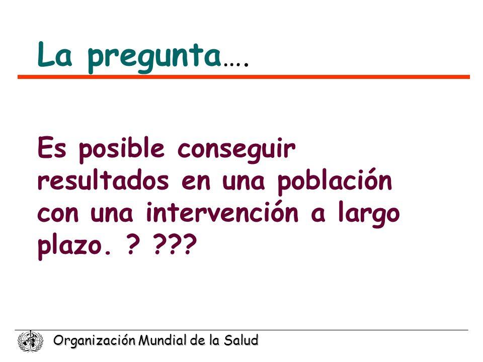 La pregunta…. Es posible conseguir resultados en una población con una intervención a largo plazo.