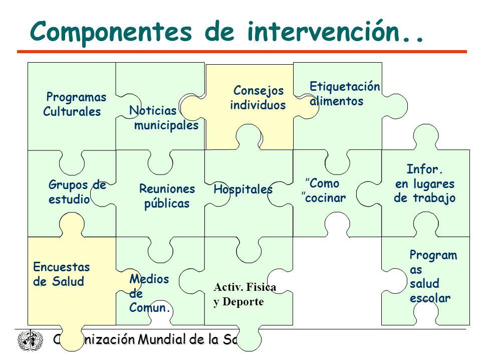 Componentes de intervención..