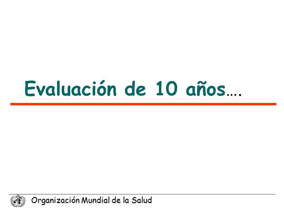 Evaluación de 10 años….