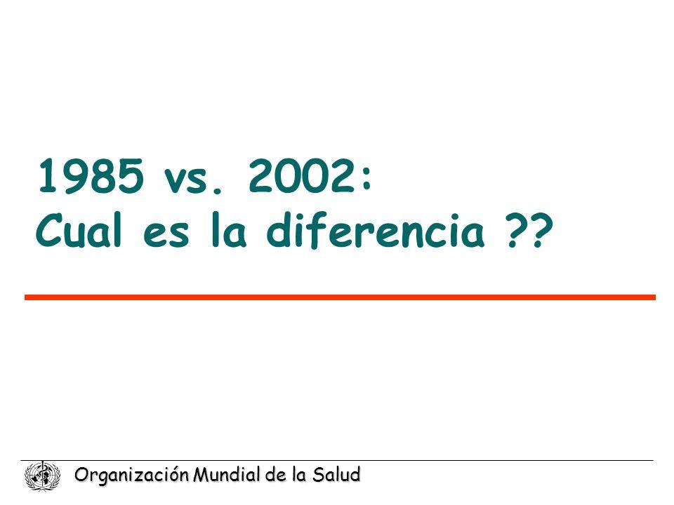 1985 vs. 2002: Cual es la diferencia
