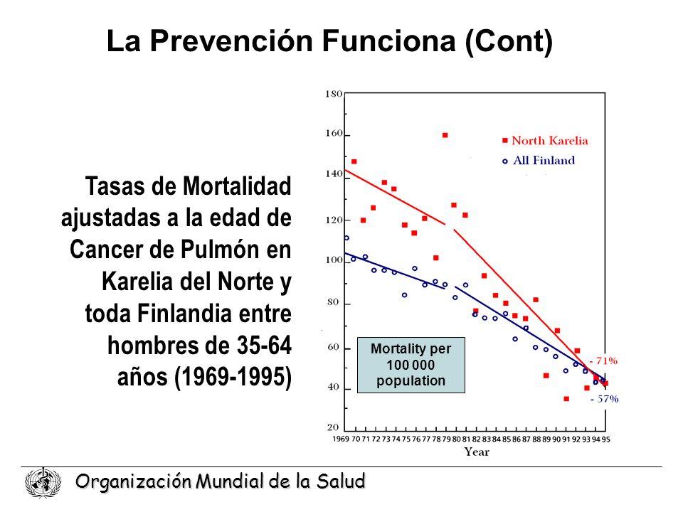 La Prevención Funciona (Cont) Mortality per 100 000 population